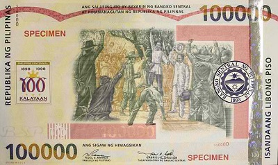 100000 peso philipines